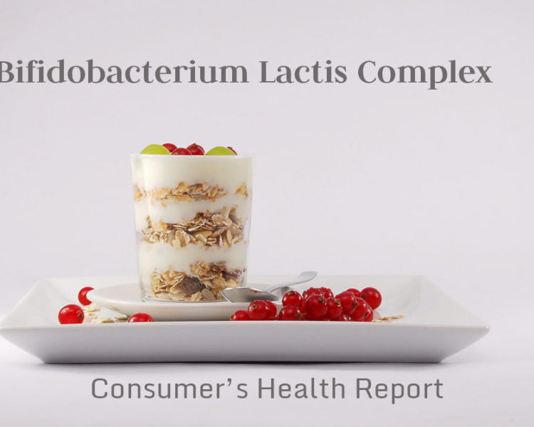 Image of bifidobacterium lactis complex food and text