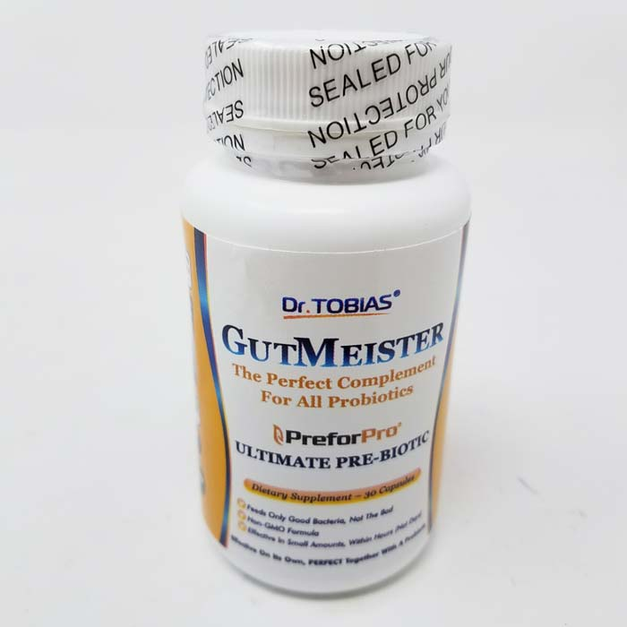 Image of a bottle of Dr. Tobias GutMeister Ultimate Prebiotic