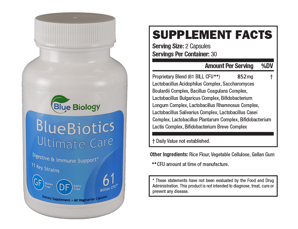 BlueBiotics Ultimate Care Probiotic Bottle